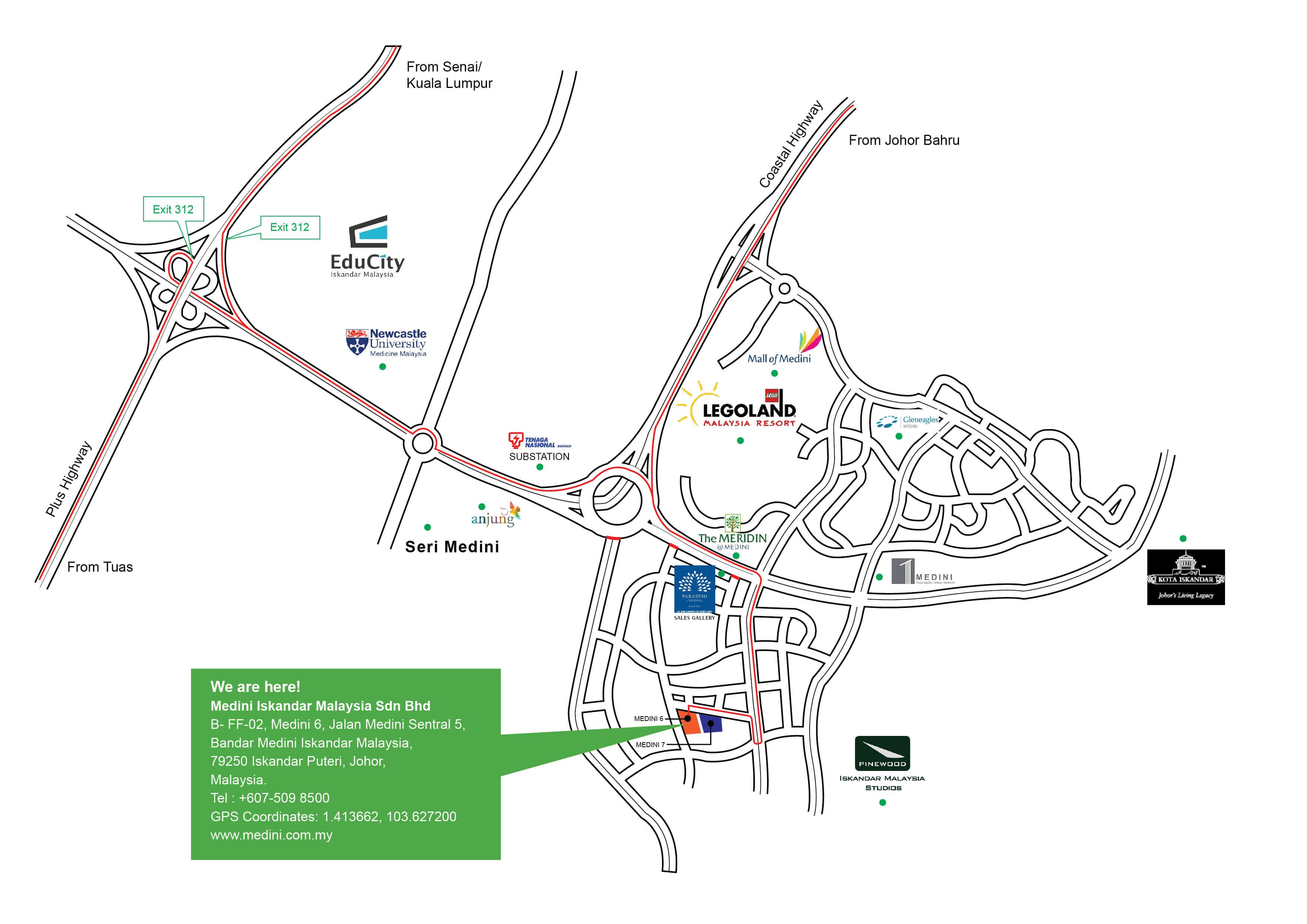 Medini iskandar malaysia view map malvernweather Gallery